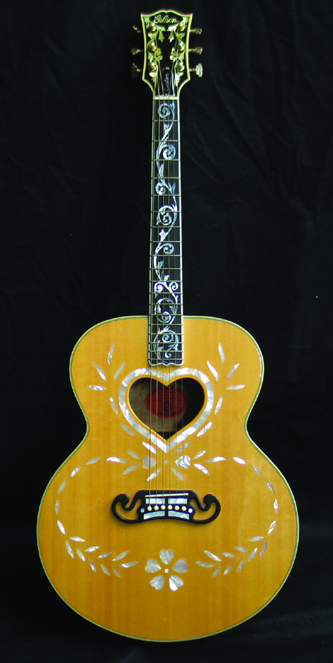 Greg Lake owned and played Gibson custom acoustic guitar. - Front 3/4 - 48390