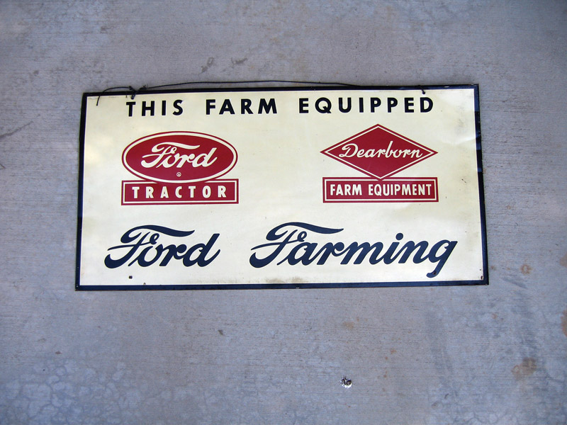 Very clean 1950s Ford Farming tin sign. - Front 3/4 - 48435