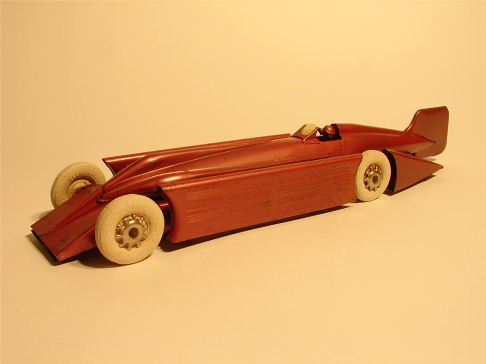 Highly sought after and all original 1928 Kingsbury racer in scarce salmon color. - Front 3/4 - 48675