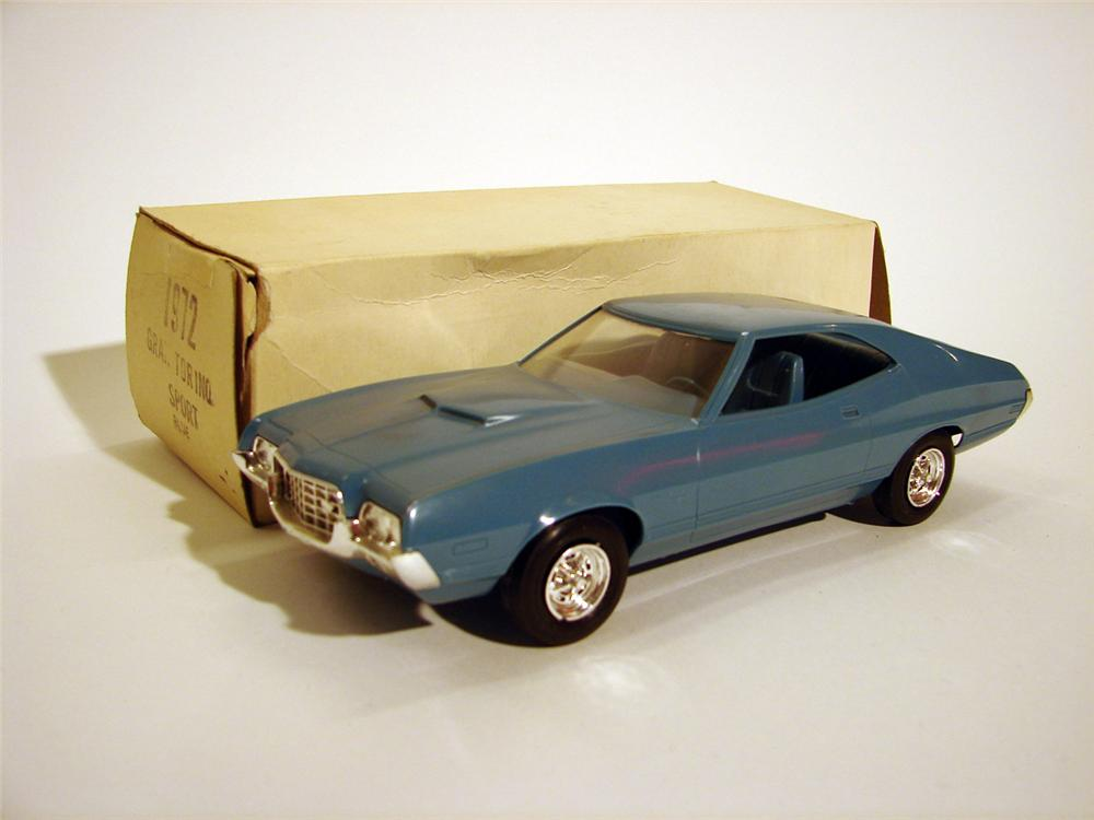 "N.O.S. 1972 Ford Gran Torino Sport in ""Sport Blue""  Still in the original box. - Front 3/4 - 50079"