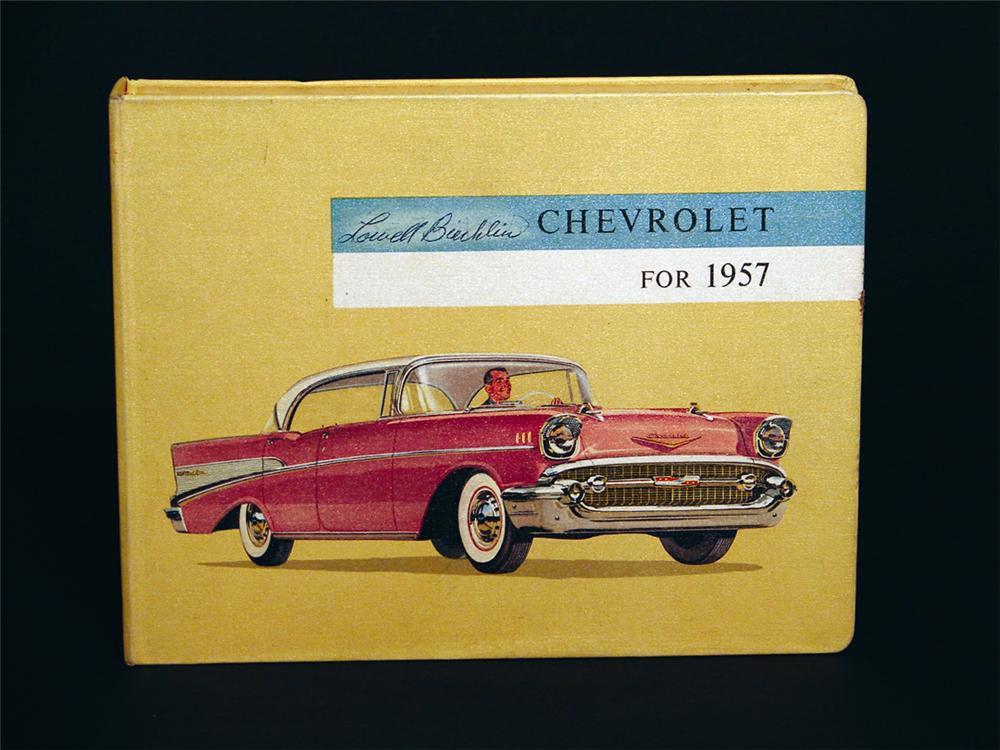 Rare 1957 showroom sales dealer book. - Front 3/4 - 50098