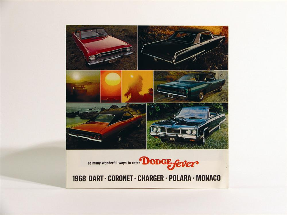 Hard to find 1968 Dodge Charger, Coronet, Dart, Hemi sales brochure. - Front 3/4 - 50145
