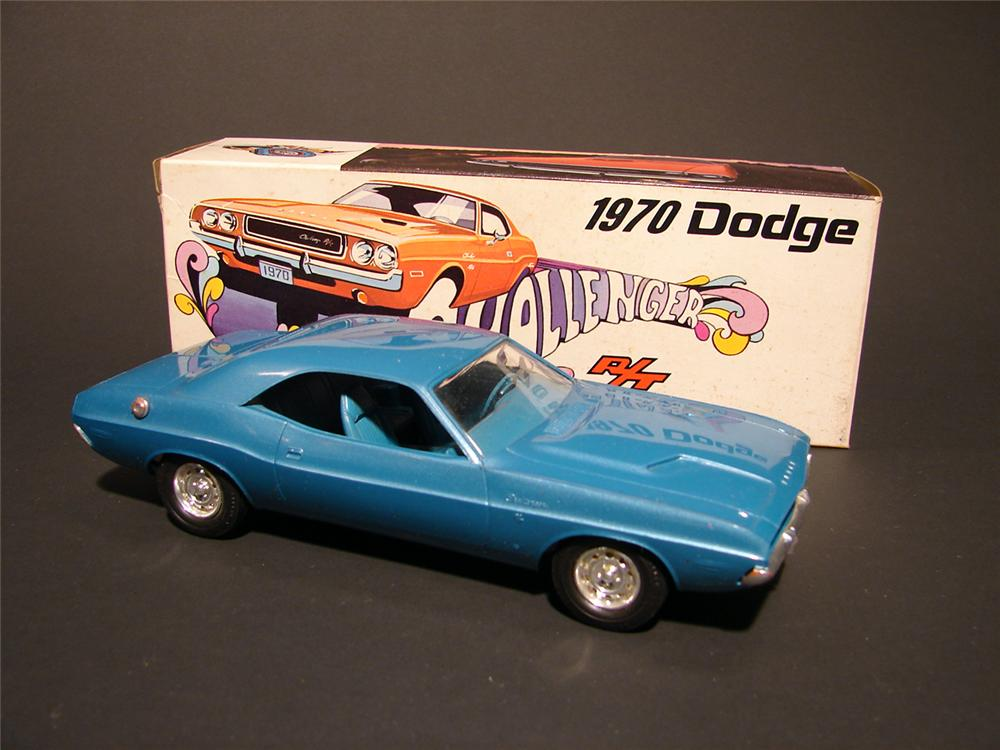Killer N.O.S. 1970 Dodge Challenger R/T dealer promotional in Brite Blue. - Front 3/4 - 50161