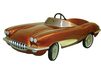 Highly sought after 1958 Corvette dealer promotional pedal car.  These were only available from select dealers of the time p... - Front 3/4 - 50176