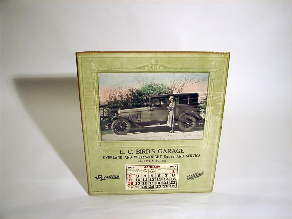 1927 Birds Garage Overland and Willys dealership calendar. - Front 3/4 - 50264