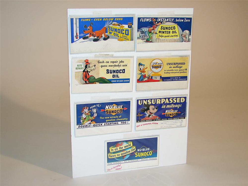 "Highly prized collection of seven Sunoco Gasoline ""Walt Disney"" ink blotters 1939-1941. - Front 3/4 - 50347"