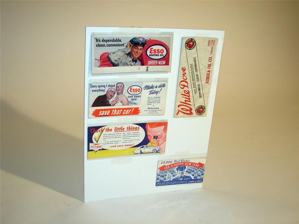 Lot of five Esso station blotters circa 1930-1940. - Front 3/4 - 50348