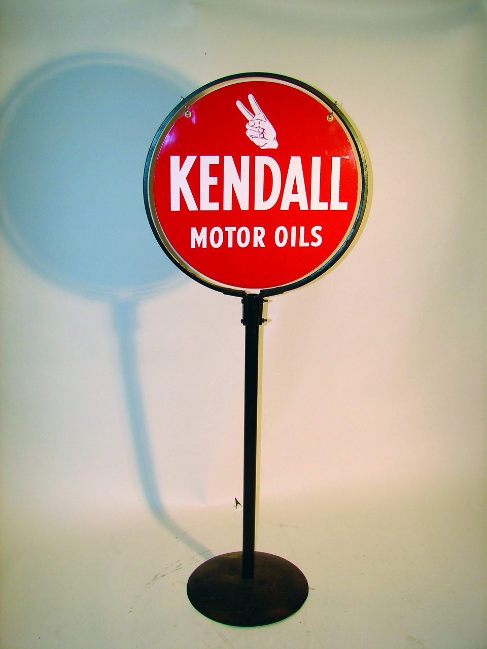 Fantastic kendall motor oil double sided tin painted curb for Kendall motor oil distributors