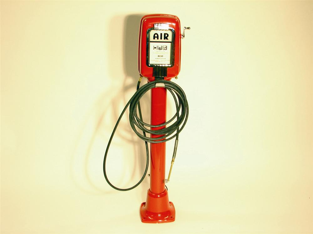Professionally restored 1950s Eco Air Meter service station air dispenser. - Front 3/4 - 50421
