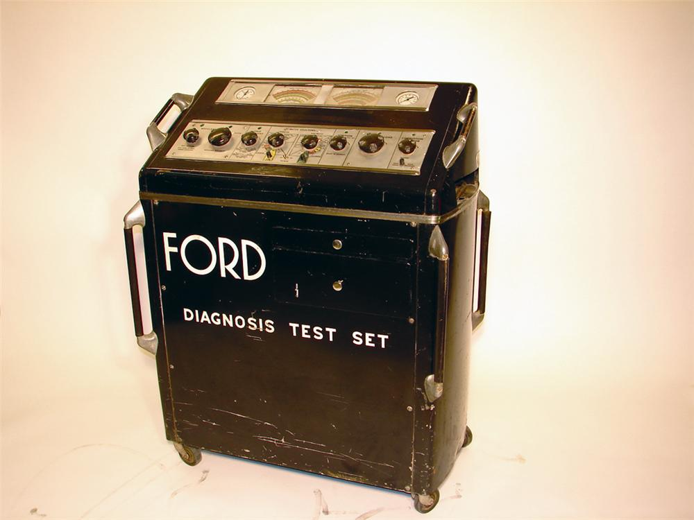 Interesting 1940s Ford Diagnosis Service Department Test Set. - Front 3/4 - 50577
