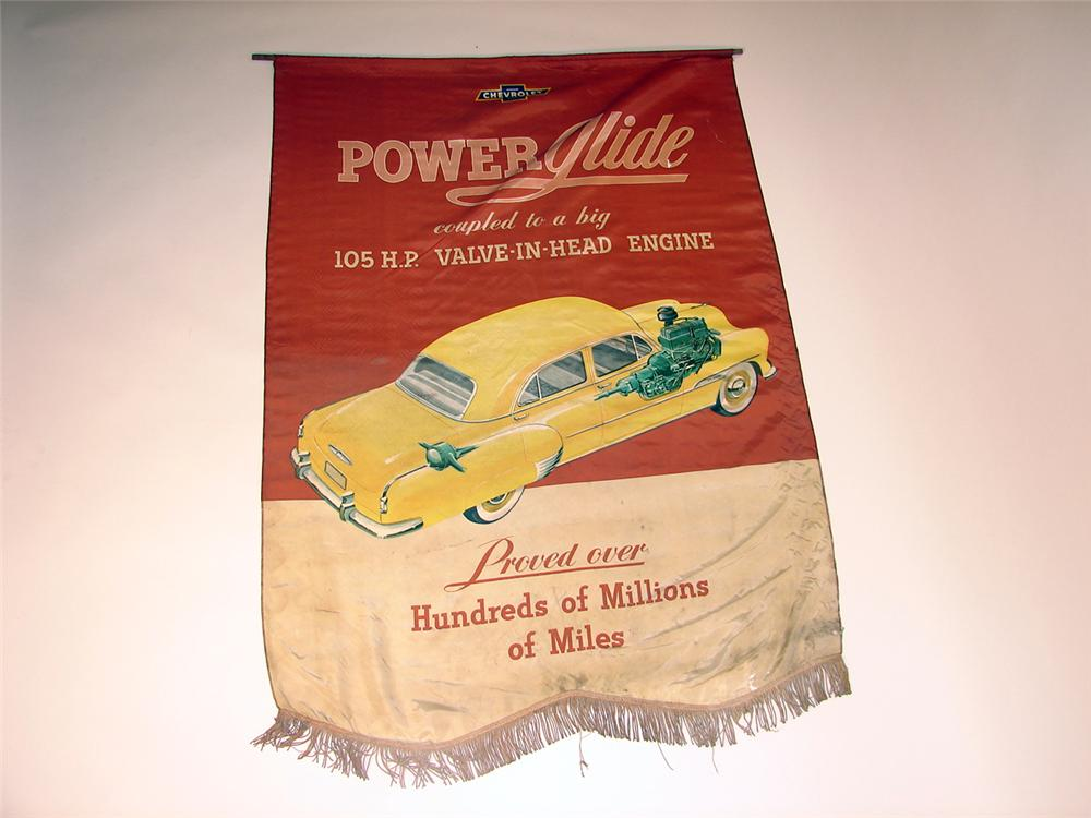 "1950s Chevrolet ""Power Glide"" dealership showroom banner. - Front 3/4 - 50646"