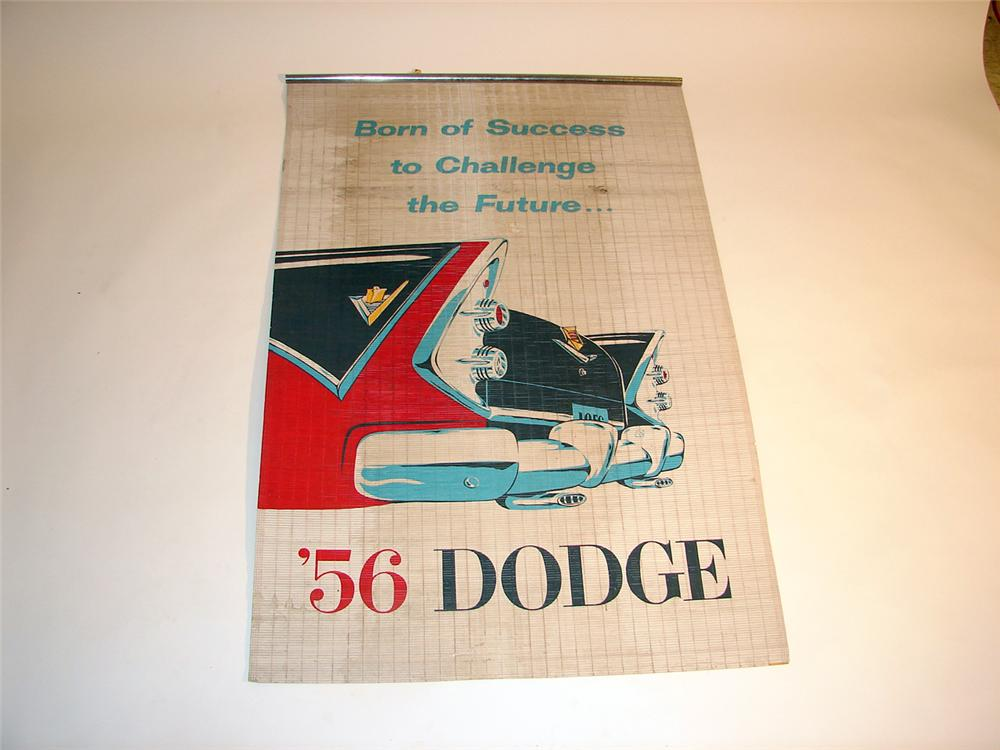 Very cool 1956 Dodge dealership showroom banner.  Great period colors and graphics. - Front 3/4 - 50649