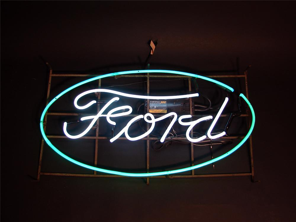 Magnificent 1940s-50s Ford Script neon dealership window sign. - Front 3/4 - 50660