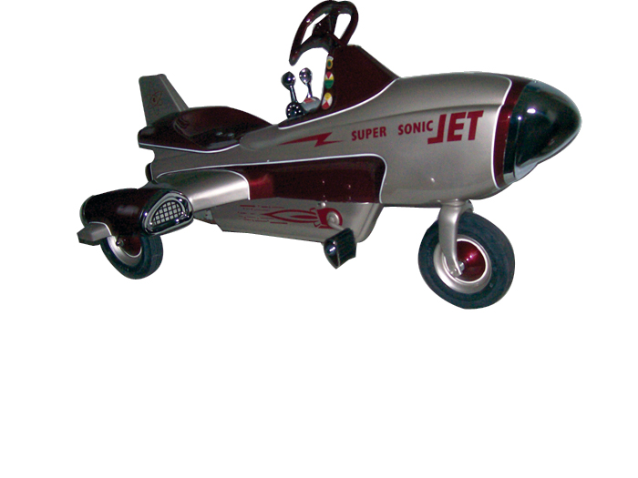 1955 Murray Super Sonic JEt pedal car by Murray. - Front 3/4 - 62538