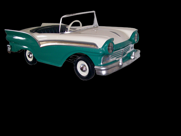 1957 Ford dealer promotional pedal car made by the Donaldson Company of Kansas City. - Front 3/4 - 62539