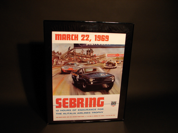 Neat N.O.S. 1969 Sebring Race Poster. - Front 3/4 - 62566