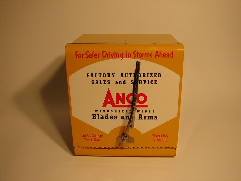 Small late 50s-early 60s Anco Widshield Wipers counter-top service cabinet. - Front 3/4 - 62577