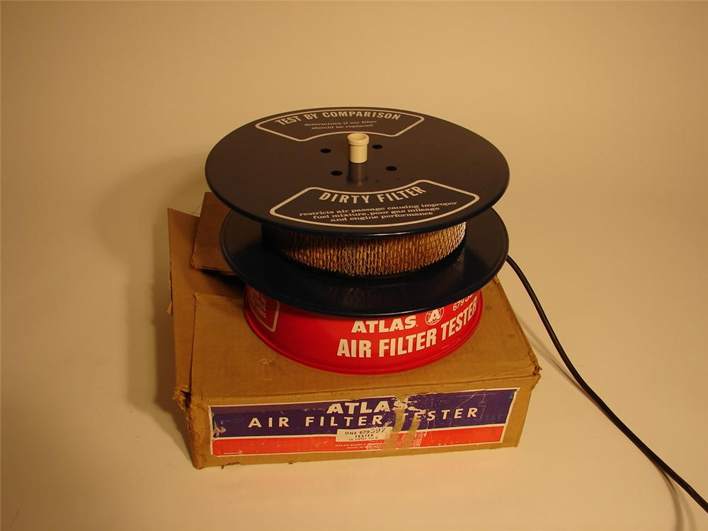 N.O.S. 1960s Atlas Air Filter Tester still in the original box. - Front 3/4 - 62671
