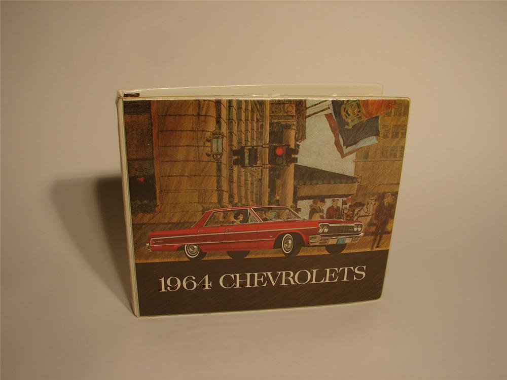 Sharp 1964 Chevrolet showroom sales dealers book. - Front 3/4 - 62681