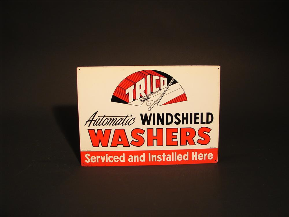 N.O.S. Trico Windshield Wiper Service tin garage sign. - Front 3/4 - 62897