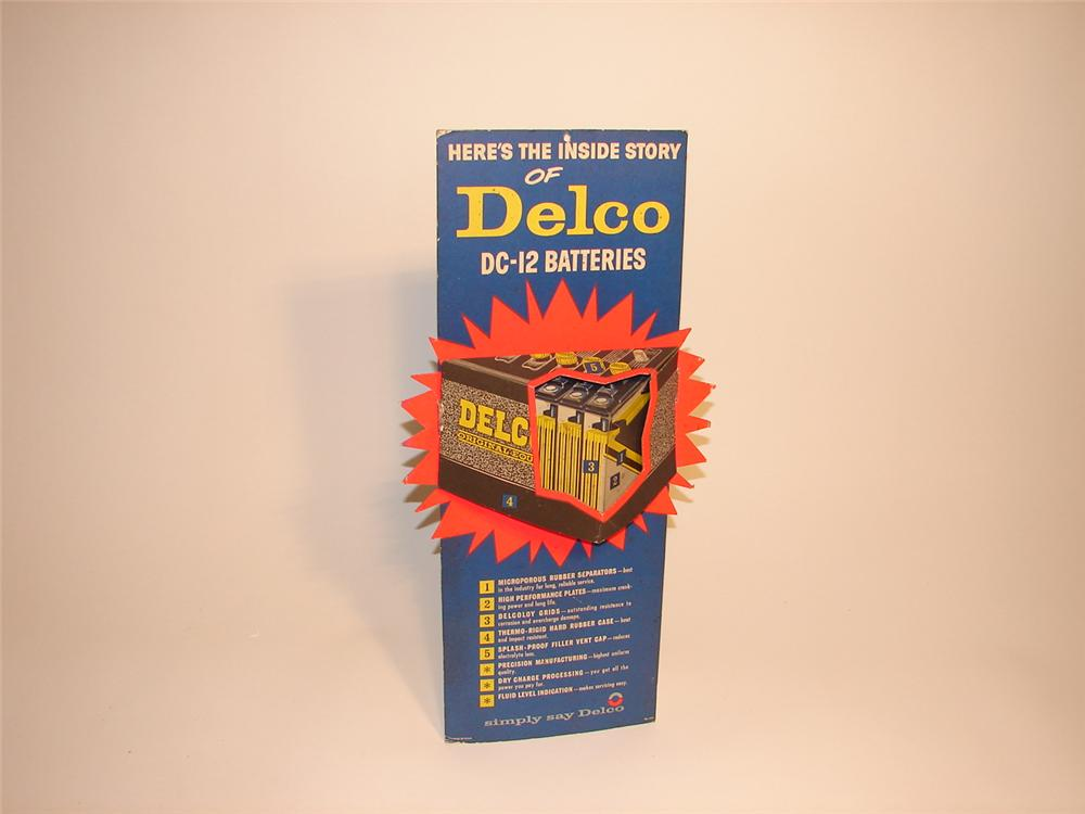 Late 50s-early 60s Delco Batteries three-dimensional easel backed service department display. - Front 3/4 - 62959