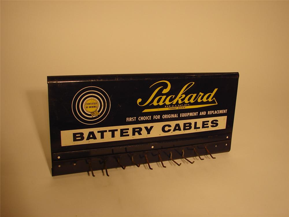 1940s-50s Packard Battery Cables garage display rack. - Front 3/4 - 62979