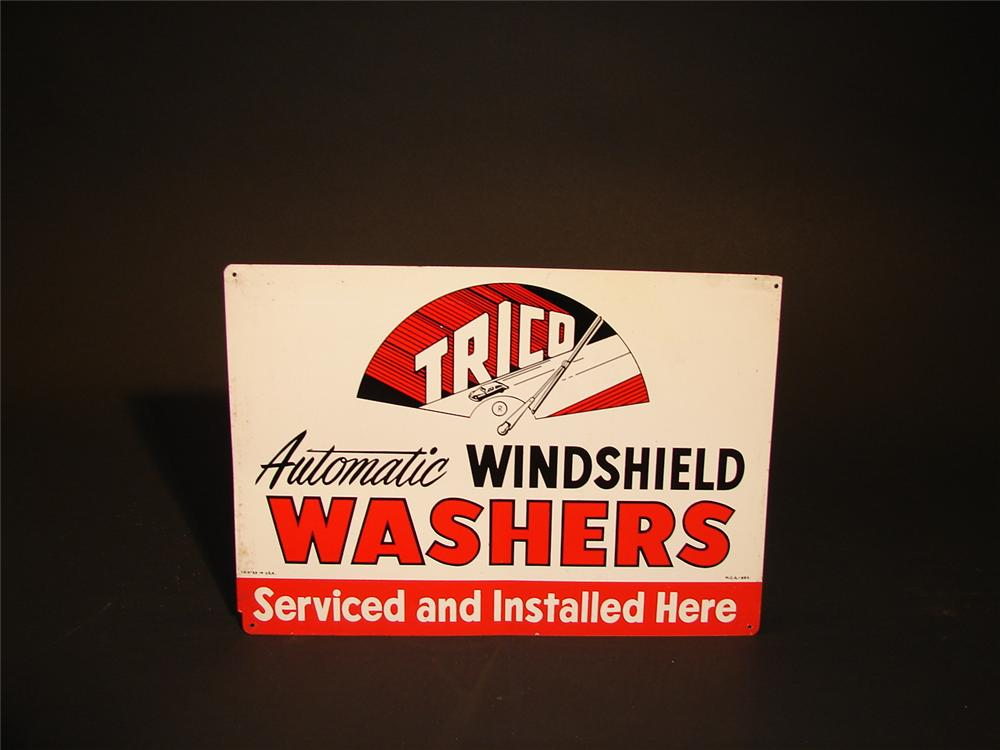 N.O.S. Trico Windshield Washers single-sided tin garage sign. - Front 3/4 - 63004