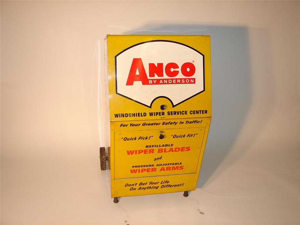 Large 1960s Anco Wiper Blades service station cabinet on wheels. - Front 3/4 - 63043