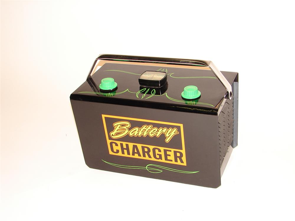 Cool 1950s Polly Gasoline Service Station Milton battery charger. - Front 3/4 - 63045