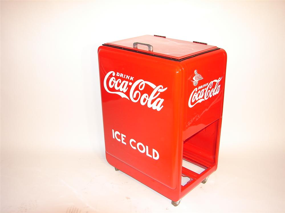 Magnificently restored 1930s Coca-Cola general store bottle cooler. - Front 3/4 - 63054