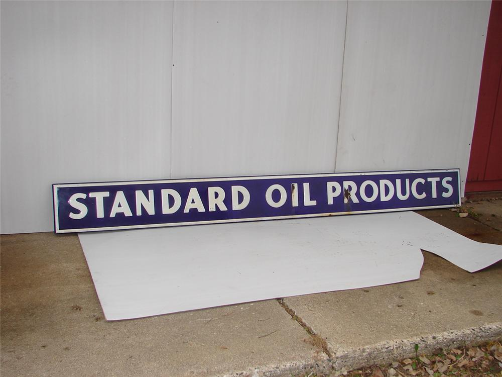 1940s Standard Oil Products single-sided porcelain service station sign. - Front 3/4 - 63064