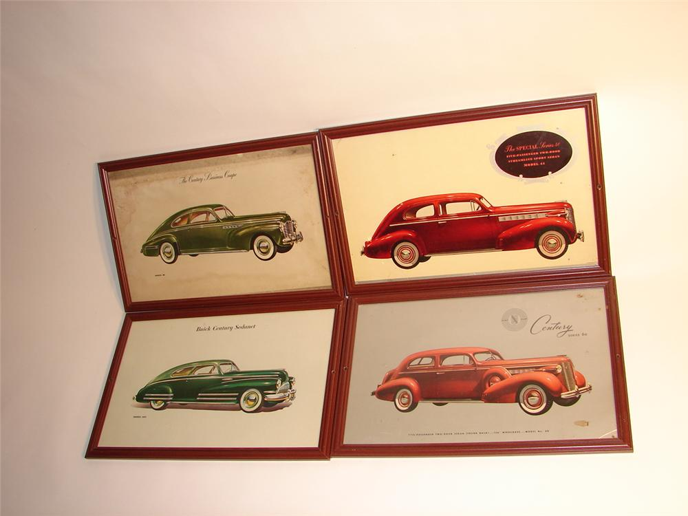 - Lot of four original 1941-1942 Buick Showroom cardboard prints. - Front 3/4 - 63066