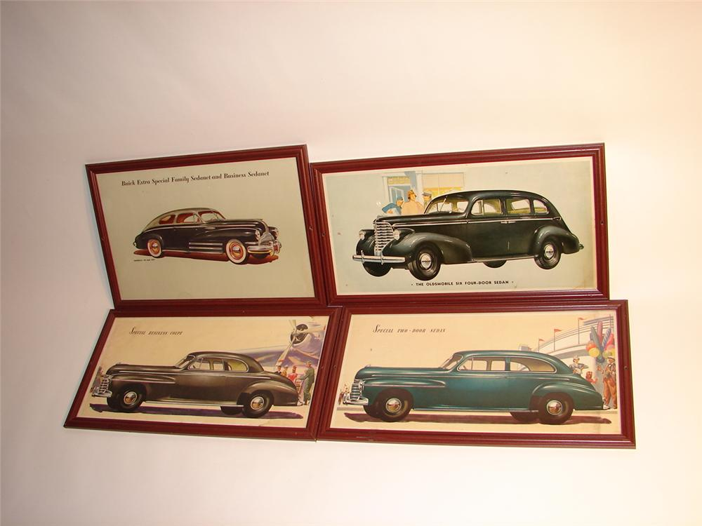 - Lot of four various original 1941-1942 Buick Showroom cardboards prints. - Front 3/4 - 63067