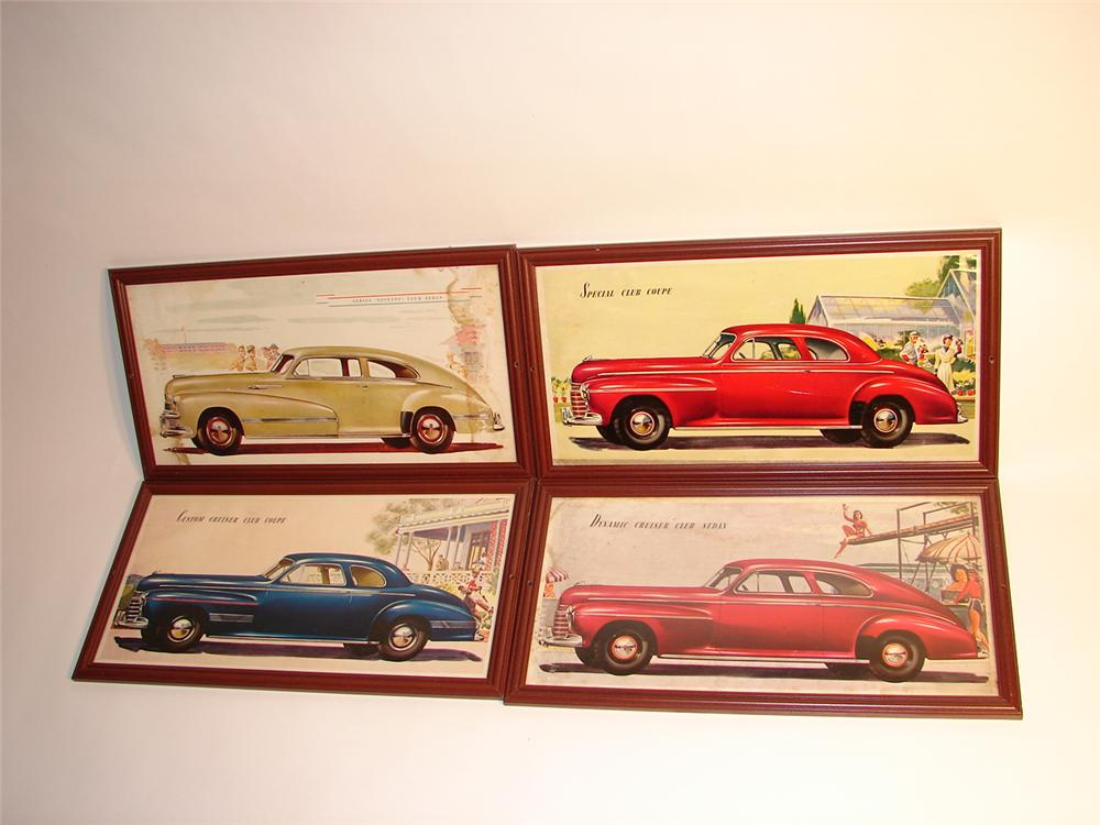 Lot of four 1941-1942 framed Buick showroom cardboard prints. - Front 3/4 - 63068
