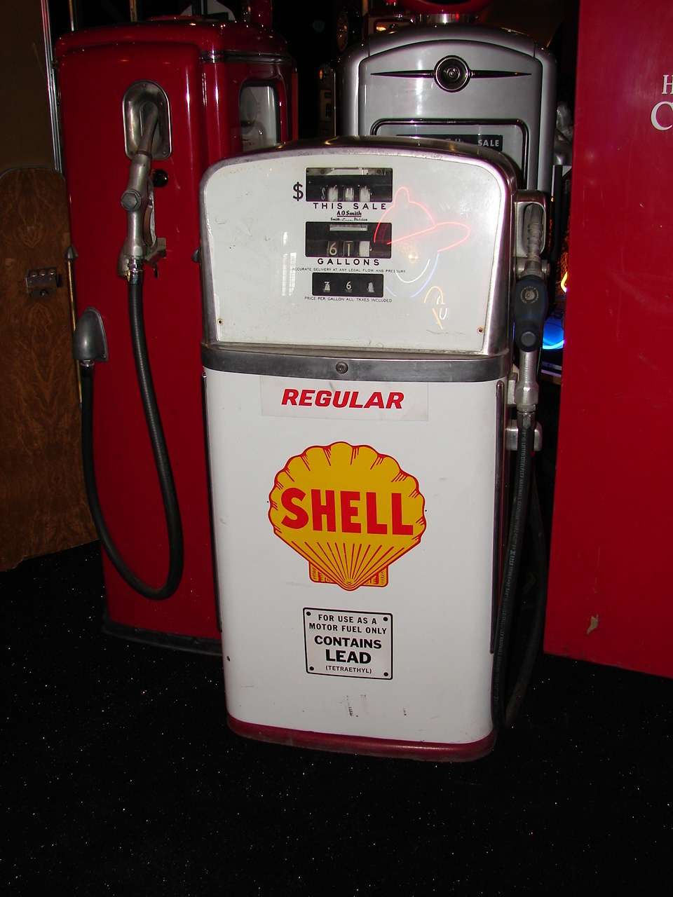 1959 Shell Gasoline A.O. Smith station pump model #48. - Front 3/4 - 63224