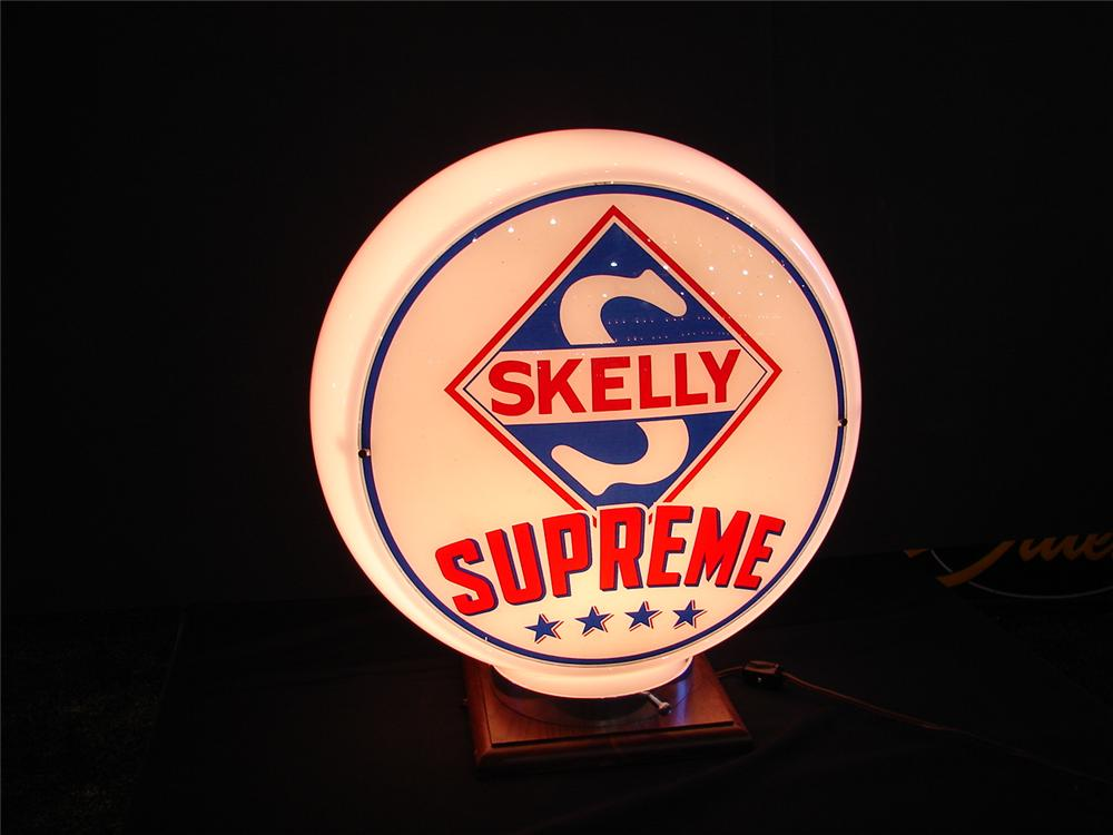 "N.O.S. Skelly Supreme gas pump globe on original 13.5"" Capco body. - Front 3/4 - 63262"
