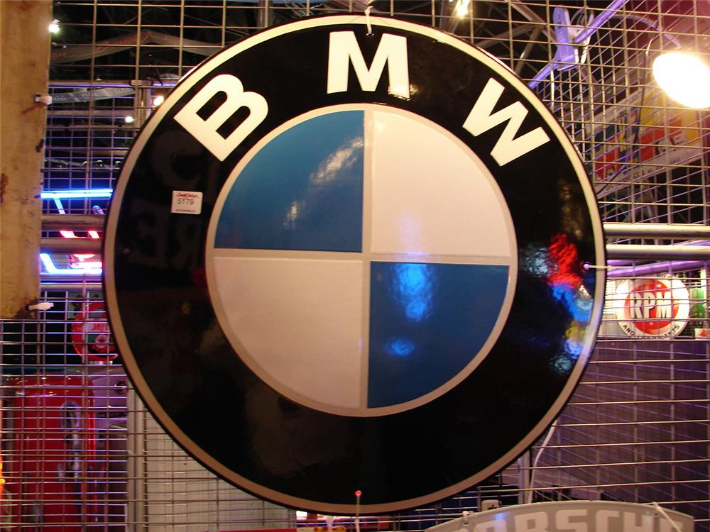 Superlative N.O.S. 1960s BMW porcelain dealership sign. - Front 3/4 - 63324