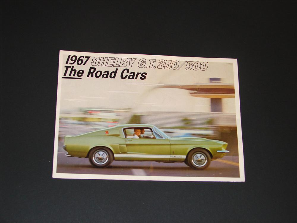 Original 1967 Shelby G.T. 350/500 six page color sales brochure loaded with specifications and great photos. - Front 3/4 - 64508