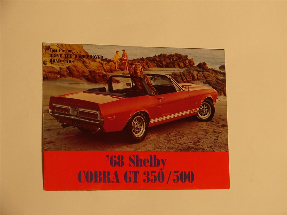 N.O.S. 1968 Shebly Cobra GT 350/500 six page color sales brochure. - Front 3/4 - 64509