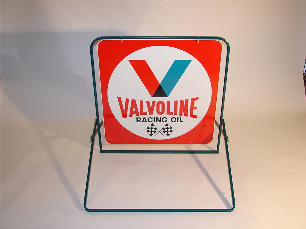 n o s late 60s valvoline racing oil double sided tin. Black Bedroom Furniture Sets. Home Design Ideas