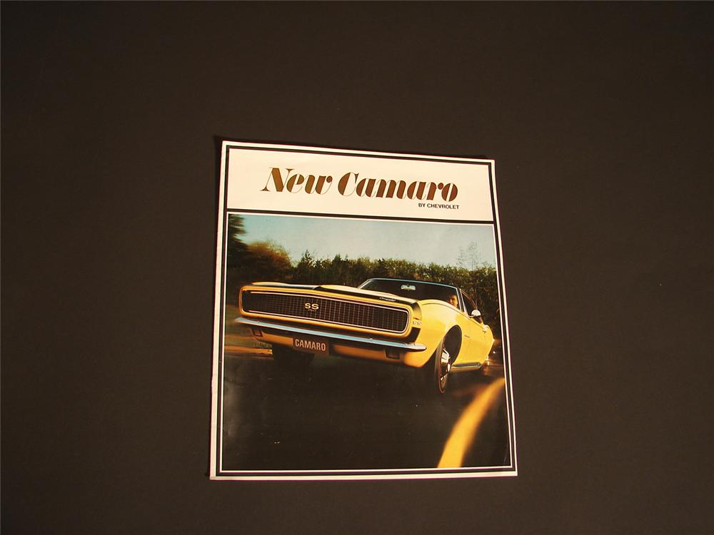 N.O.S. 1967 Chevrolet Camaro SS 350 over-sized color deluxe sales brochure. - Front 3/4 - 64544
