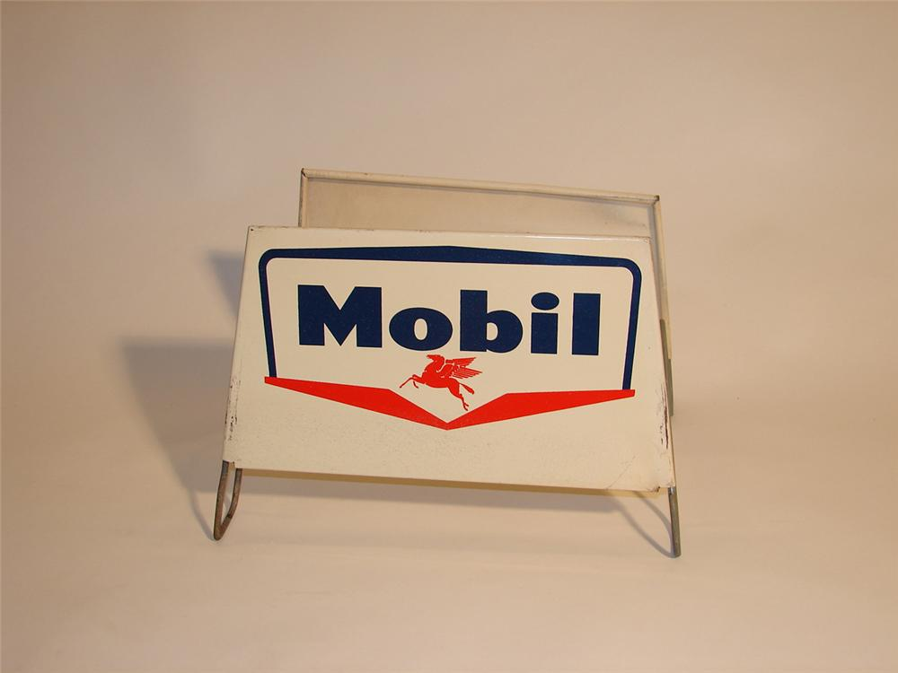 1950s Mobil Service Station metal tire display. - Front 3/4 - 64590