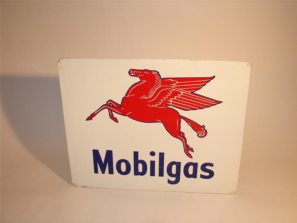 1940s-50s Mobilgas single-sided tin garage sign. - Front 3/4 - 64622