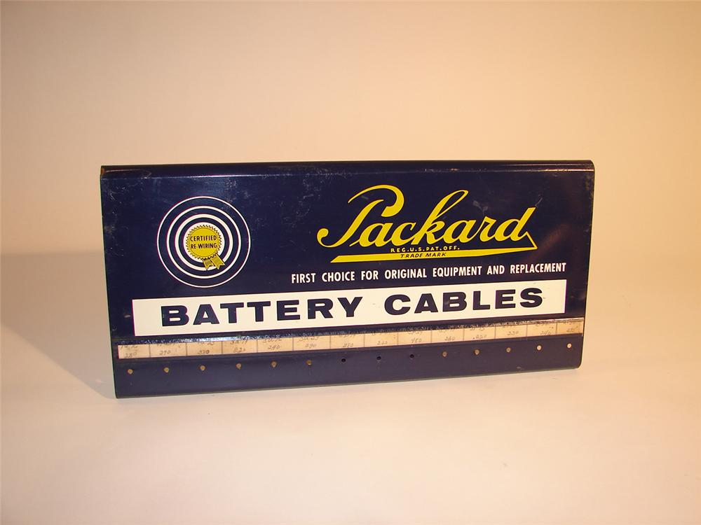 1940s Packard Battery Cables automotive garage display rack. - Front 3/4 - 64750