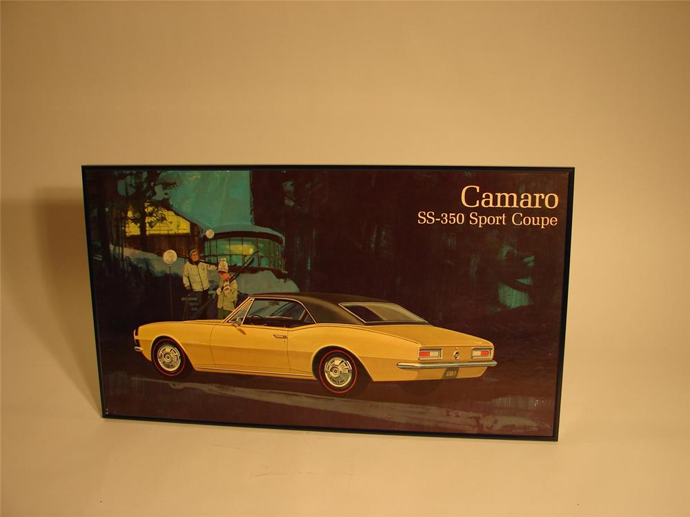 Wonderful 1967 Camaro SS-350 Chevrolet dealership showroom poster. - Front 3/4 - 64798