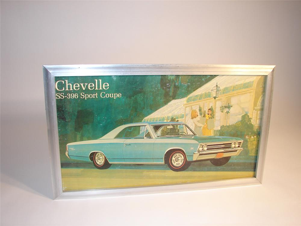 1967 Chevrolet Chevelle SS-396 Sport Coupe dealership showroom sign still in the original frame. - Front 3/4 - 64799