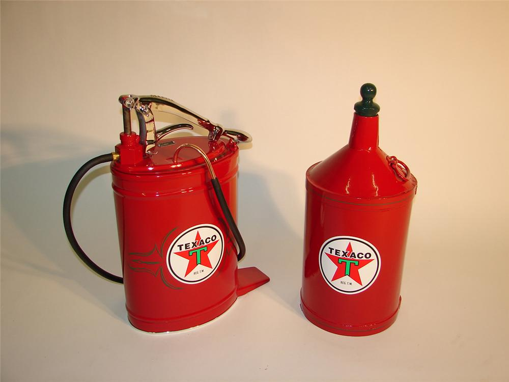 Lot of two professionally restored period Texaco station service items. - Front 3/4 - 64953