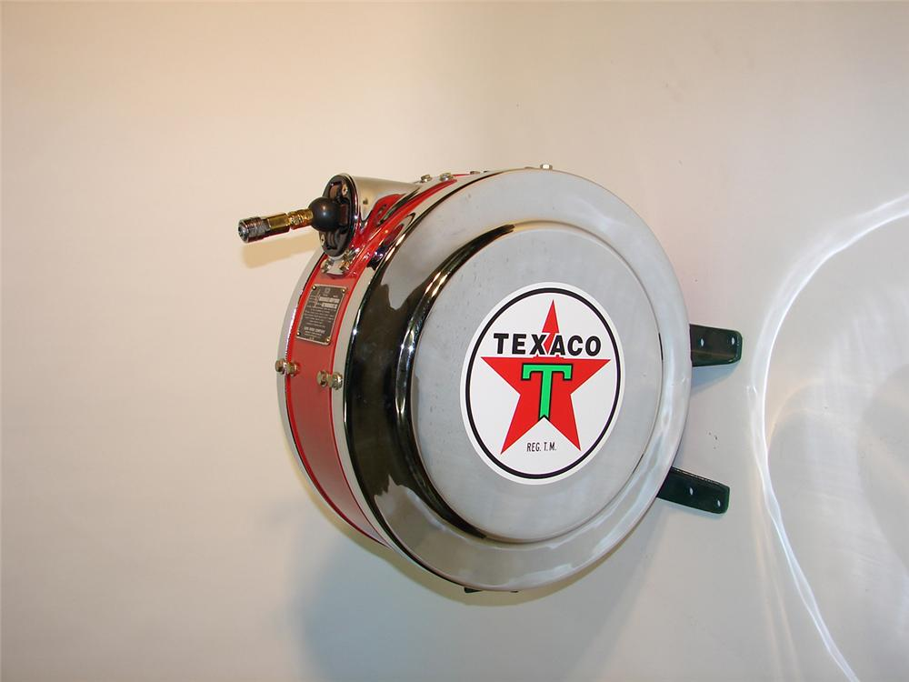 Impressive 1940s Eco Texaco service station wall mounted air hose reel. - Front 3/4 - 64955