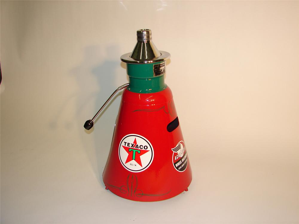 Neat 1950s Texaco Service Station restored John Bean wheel balancer. - Front 3/4 - 64975