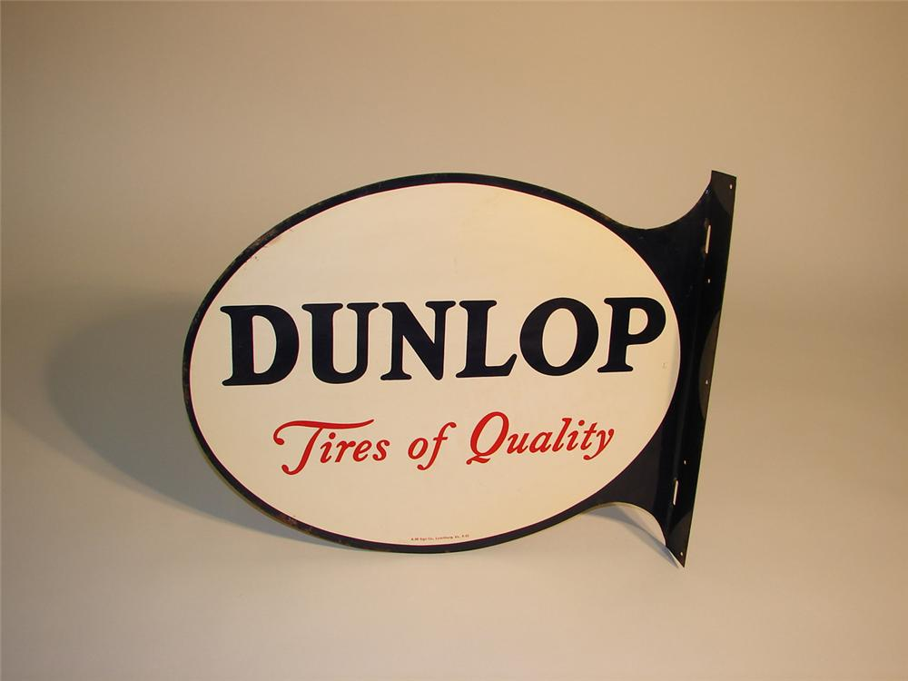 Unusual 1953 Dunlop Tires tin painted flange. - Front 3/4 - 64983